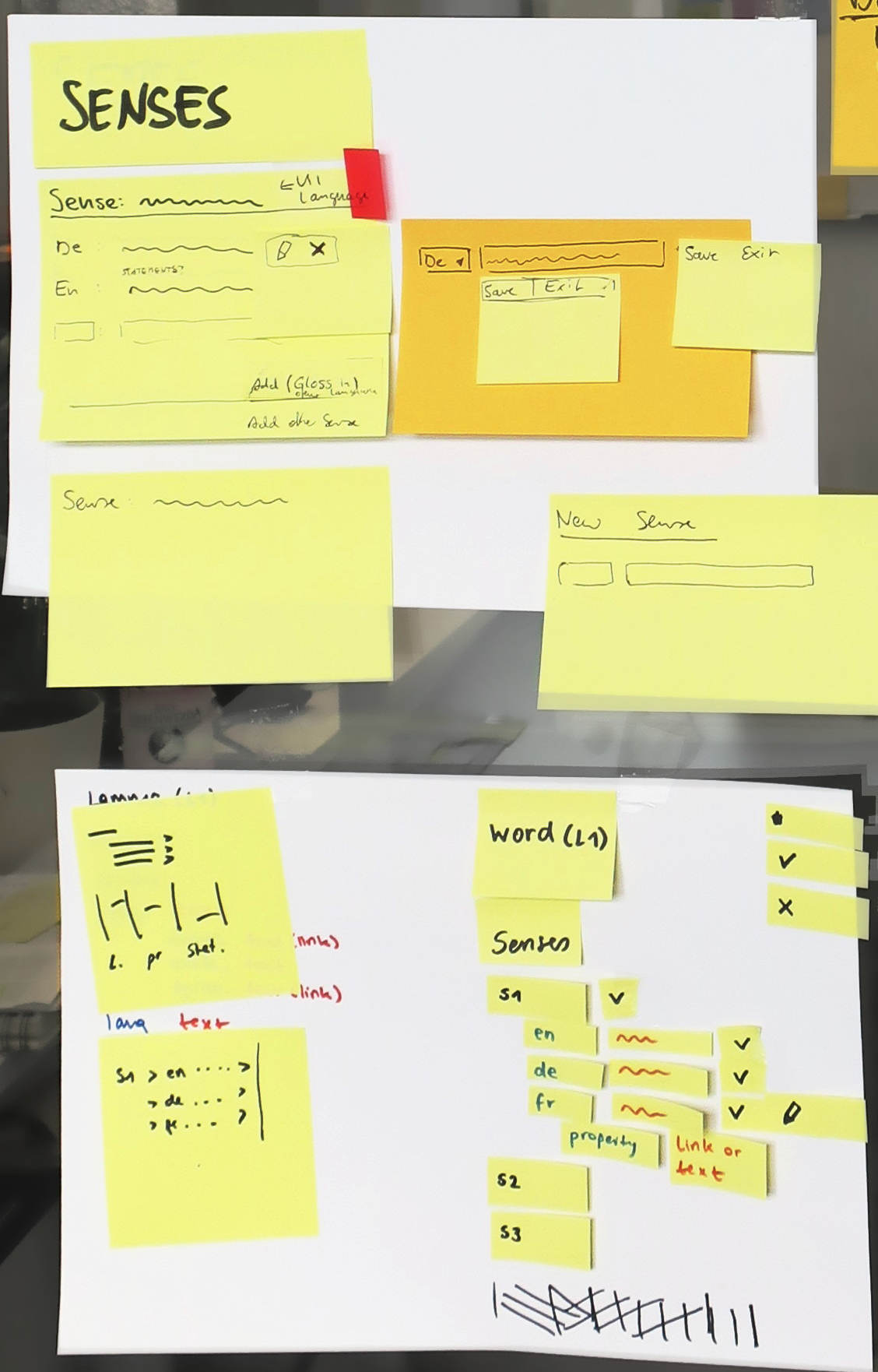 a representation of an interface consisting mainly of sticky notes